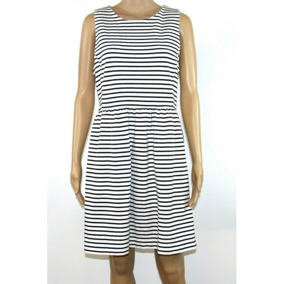 J. Crew Dresses & Skirts - J. Crew Size Women Dress White Black Striped